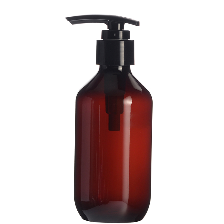 200ml Plastic Amber Bottle Plastic Lotion Bottle with Pump